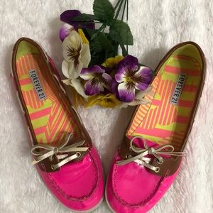 Neon Pink Loafers